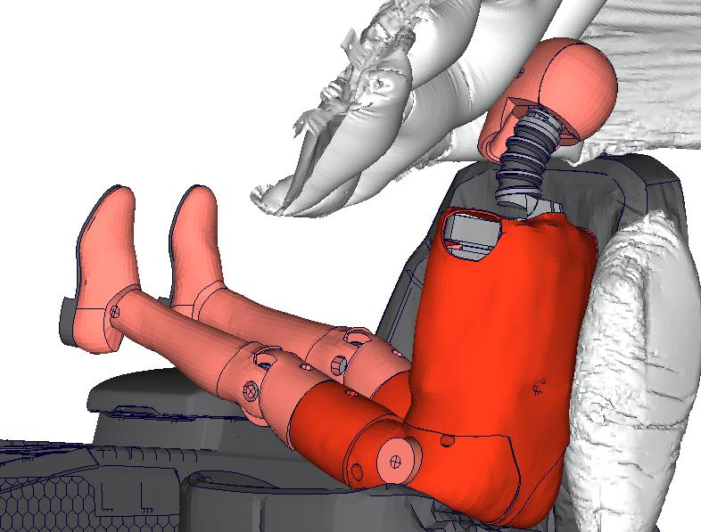 Adult Dummy in Airbag Interaction