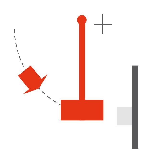 Pendulum mounted imactor