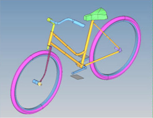 Simple bicycle model for crash investigations
